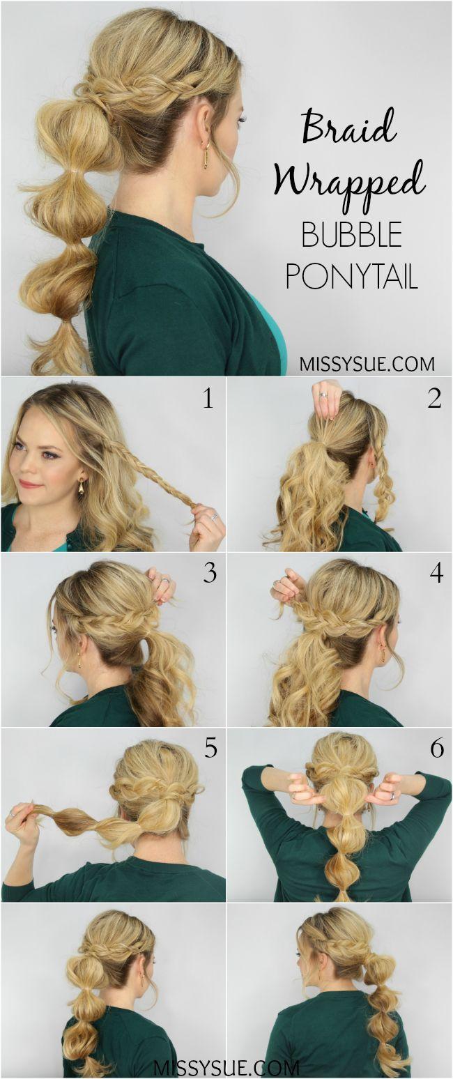 Как самостоятельно сделать праздничную укладку на средние волосы