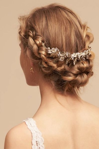 Courtesy of BHLDN; Wedding hairstyle idea.