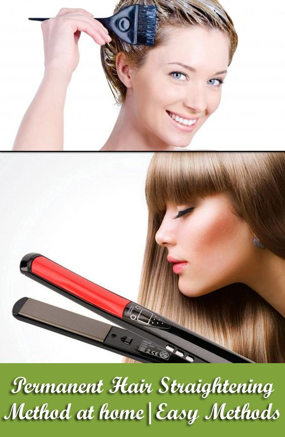 For  permanent hair straightening, buy ingredients; mix the ingredients followin...