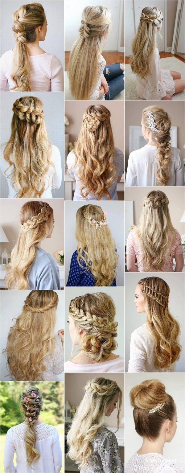 Long Wedding & Prom Hairstyles from Missysueblog ( missysue.com ) / www.deerpear...
