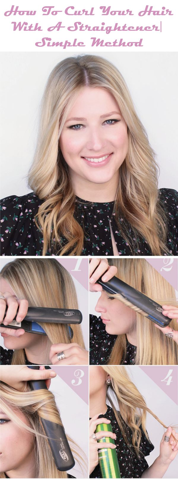 Do  you want to know how to curl your hair with a straightener? This is very s...