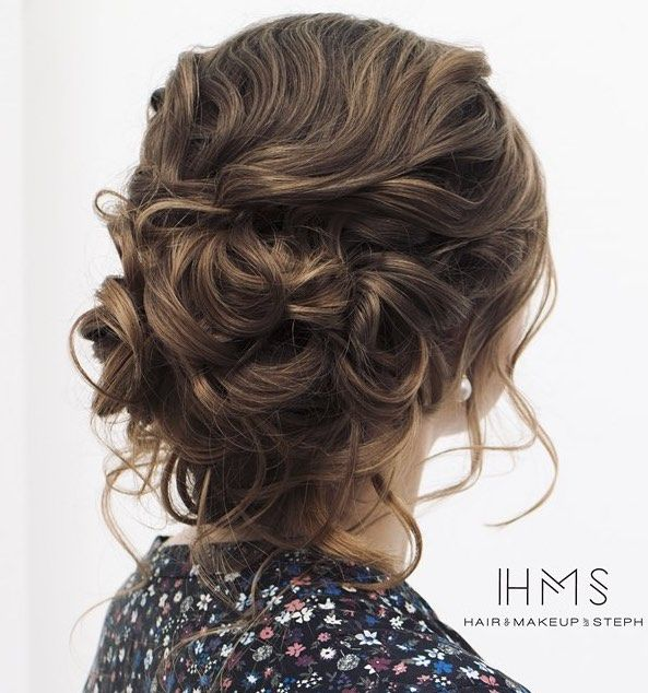 Featured Hairstyle: Hair and Makeup by Steph (Stephanie Brinkerhoff); www.hairan...