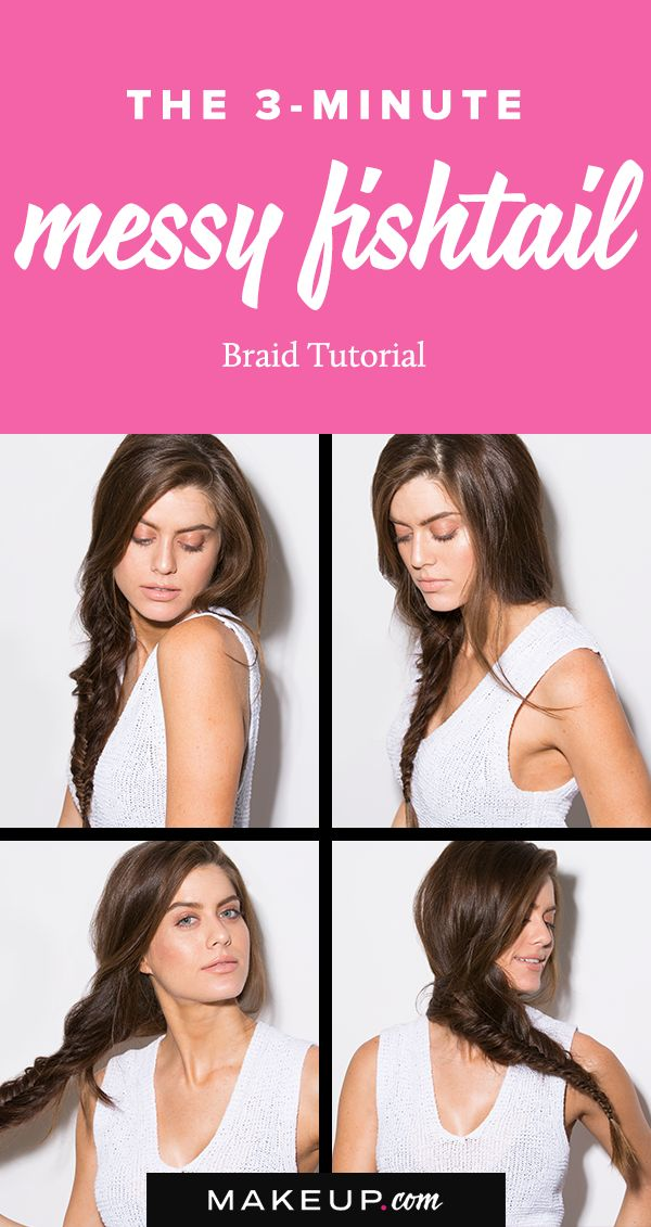 The perfect braided hairstyle for long hair, this messy fishtail braid tutorial ...
