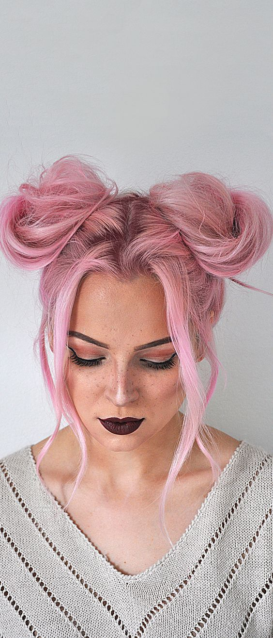 Say goodbye to boring hair and hello to fun with this space buns hairstyle tutor...