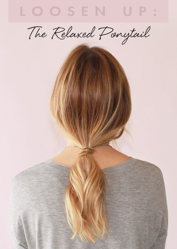 A ponytail can be good for any occasion, whether it's the first day of schoo...