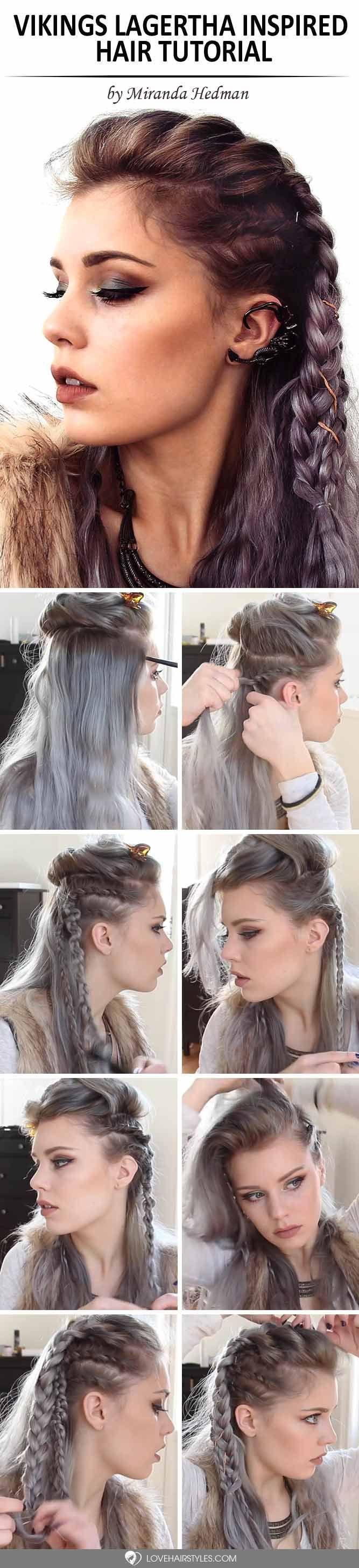Vikings Lagertha Inspired Hair Tutorial ★ See more: lovehairstyles.co...