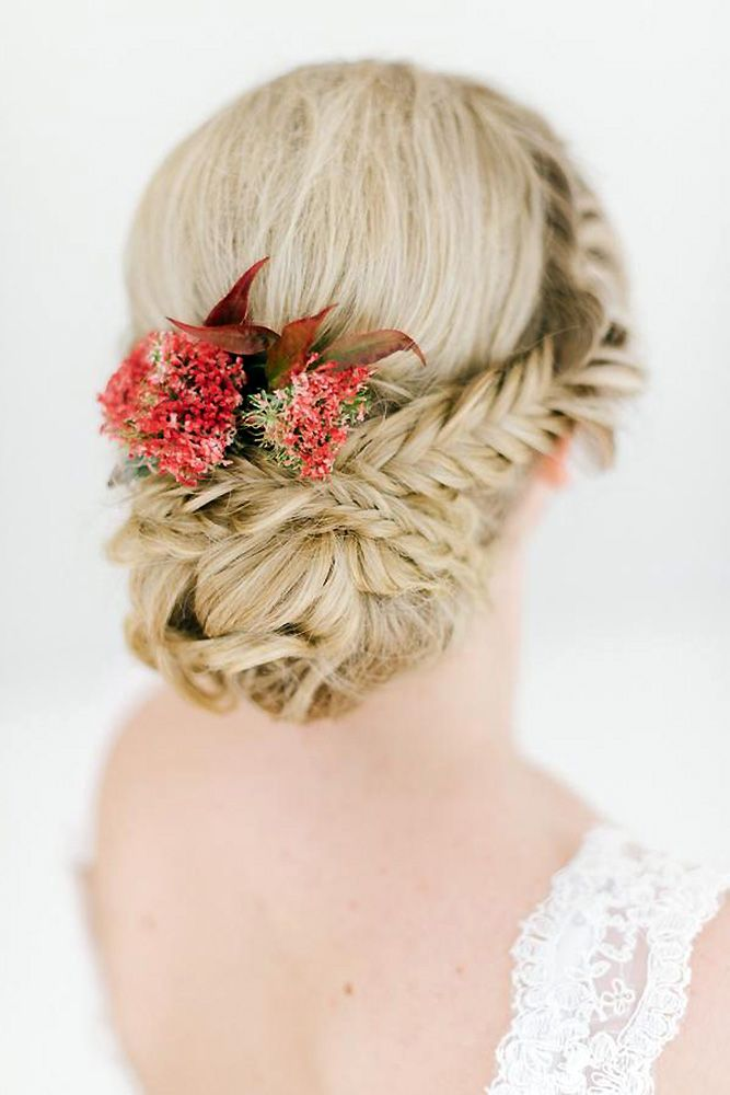 30 Graceful Wedding Updos With Braids ❤ wedding updos with braids decorated wi...