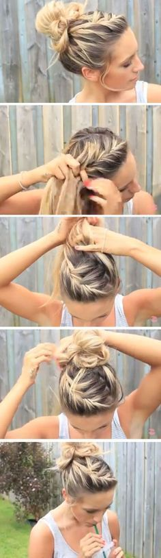 A messy bun is PERFECT for the beach, but here are a few more hairstyles you can...