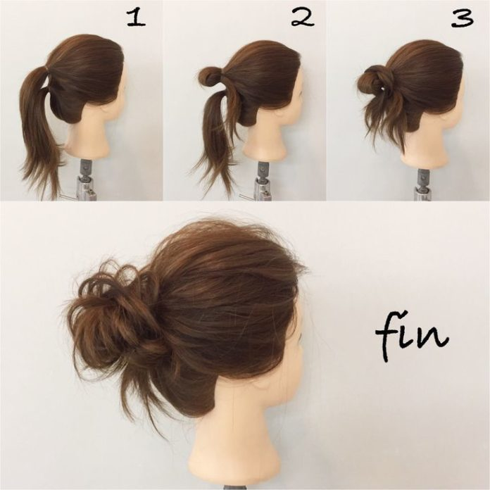Back To School Hairstyles Easy Bun Beauty Haircut Home Of