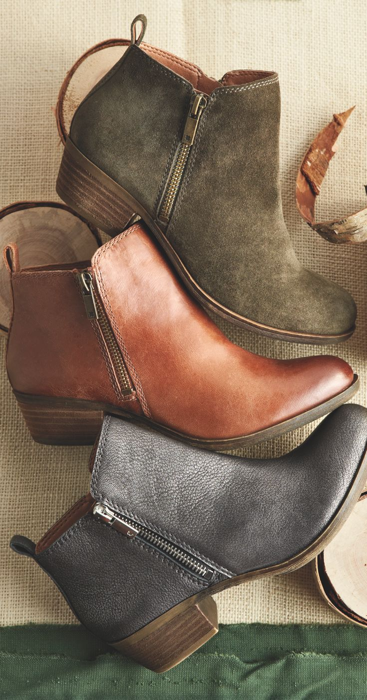 Lucky Women's Basel Boot: Stylish and comfortable, low-profile leather boots, ...