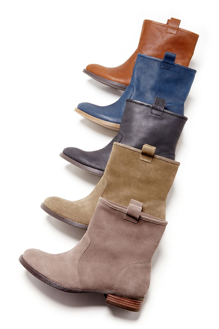 Soft leather & suede ankle boots that are perfect for all your casual outfits. P...