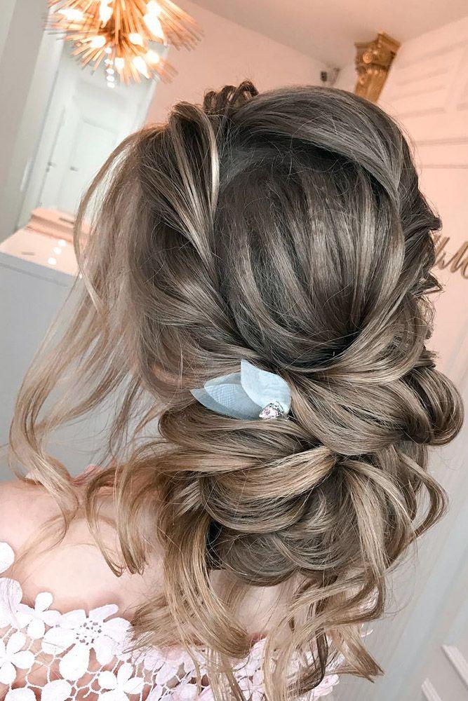 30 Best Elstile Wedding Hairstyles ❤ elstile wedding hairstyles low bun with c...