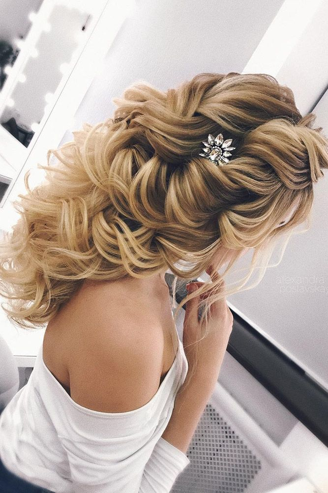 30 Perfect Bridal Hairstyles For Big Day Party ❤ bridal hairstyles modern blon...