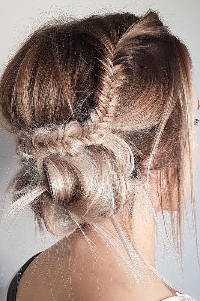 33 Overwhelming Boho Wedding Hairstyles ❤ boho wedding hairstyles braided updo...