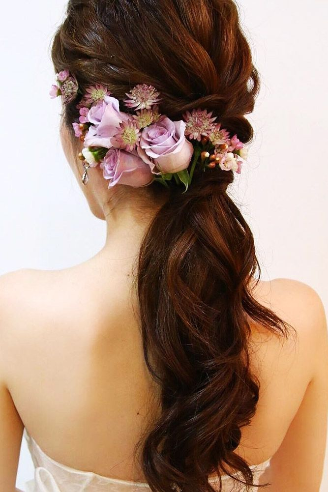39 Gorgeous Blooming Wedding Hair Bouquets ❤ blooming wedding hair bouquets ta...