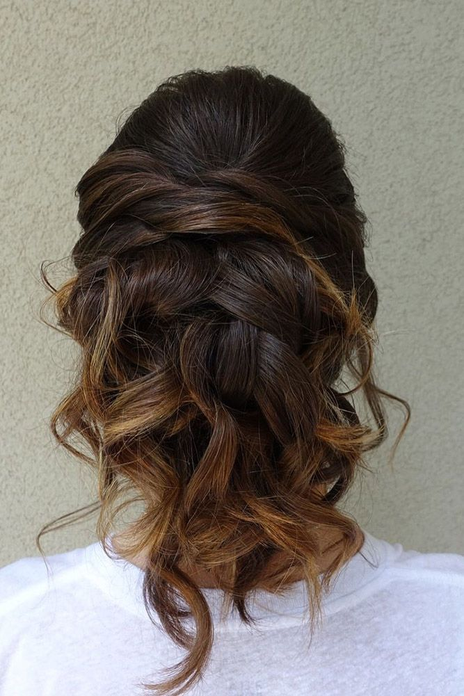 42 Mother Of The Bride Hairstyles ❤ mother of the bride hairstyles ombre curly...