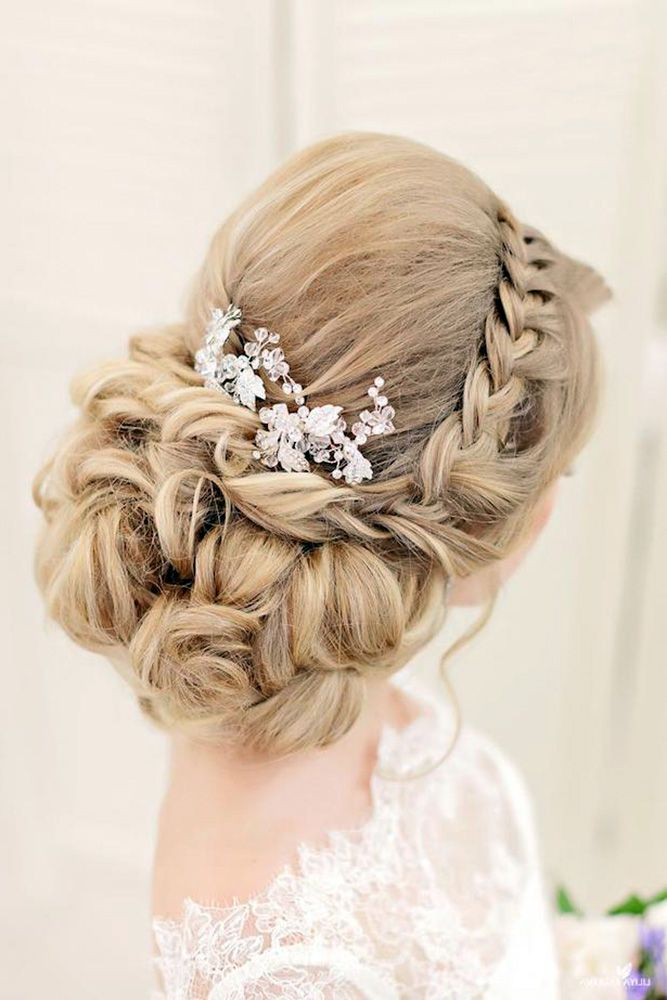 30 Graceful Wedding Updos With Braids ❤ wedding updos with braids low with fre...