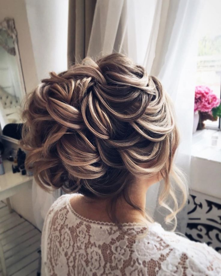 Chic bridal updo hairstyle,wedding hairstyles ,messy updo ,upstyle, updos,weddin...