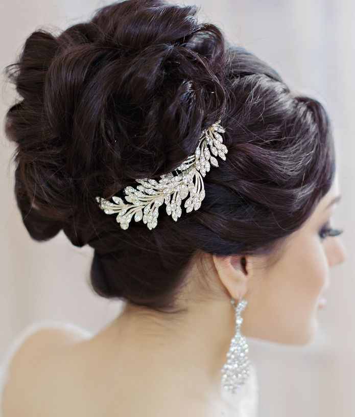 Beautiful wedding hairstyle idea; Featured: Websalon Weddings