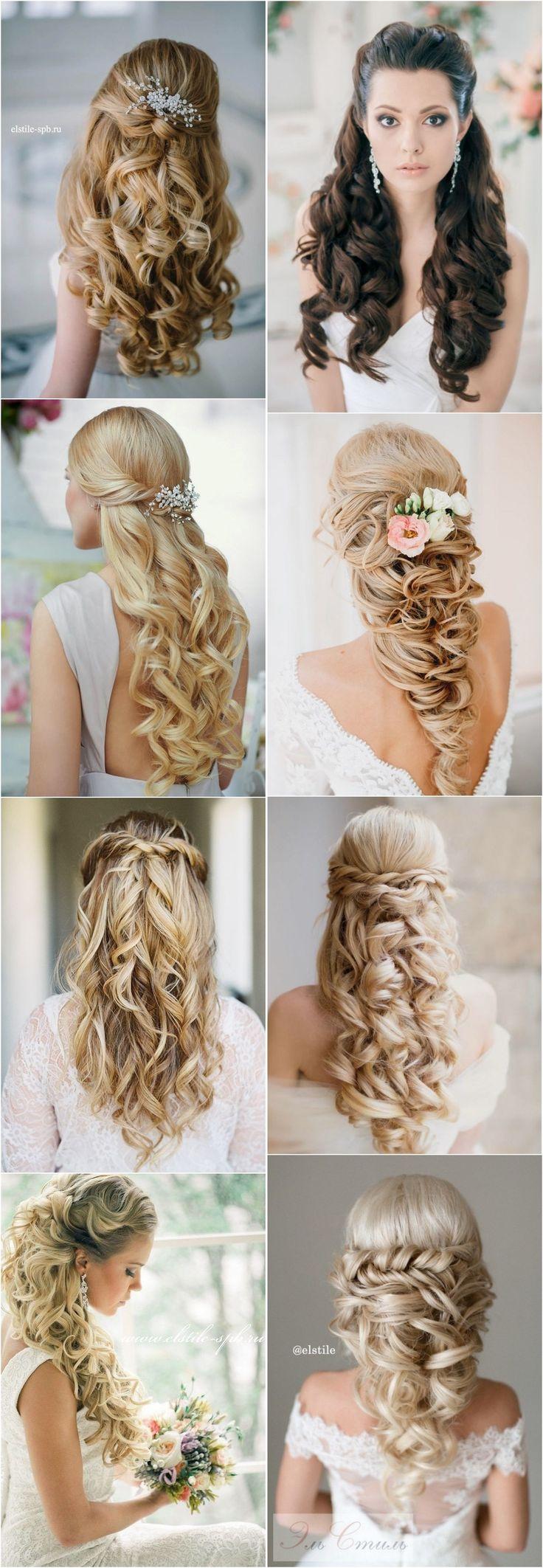 Peinado-stunning-half-up-half-down-wedding-hairstyles-with-tutorial/40 Stunning ...