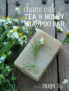 Chamomile Tea & Honey Shampoo Bar Recipe (The Nerdy Farm Wife)