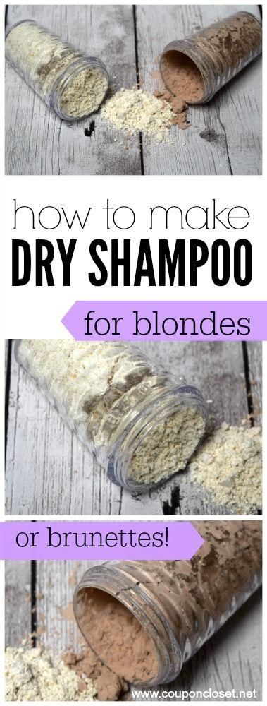 DIY Dry Shampoo - an EASY tutorial to show you how to make dry shampoo for blond...