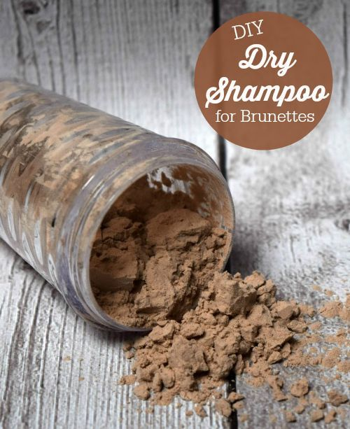 DIY Dry Shampoo for Brunettes - only two ingredients that you probably have in y...