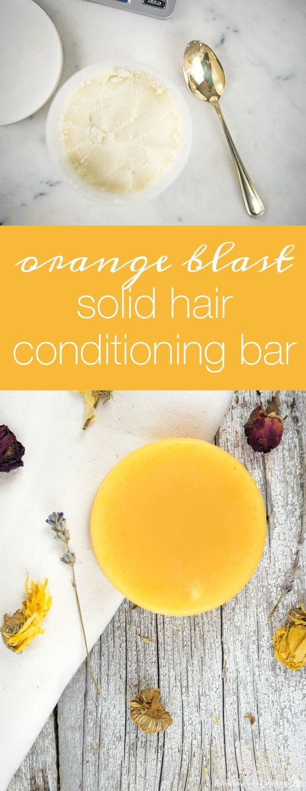How to Make an Orange Blast Solid Conditioner Bar