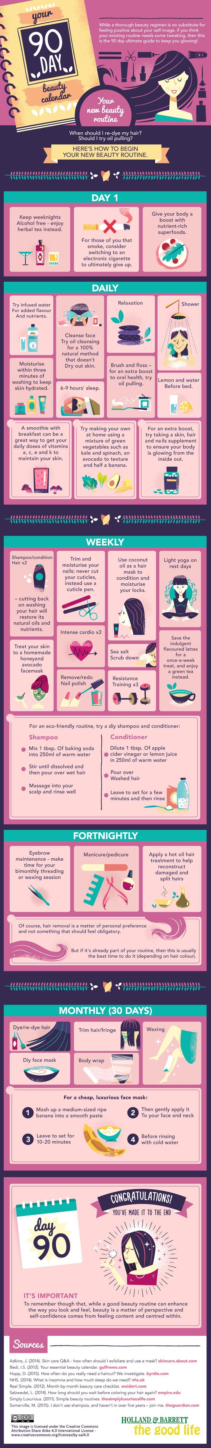 90 Day Beauty Calendar