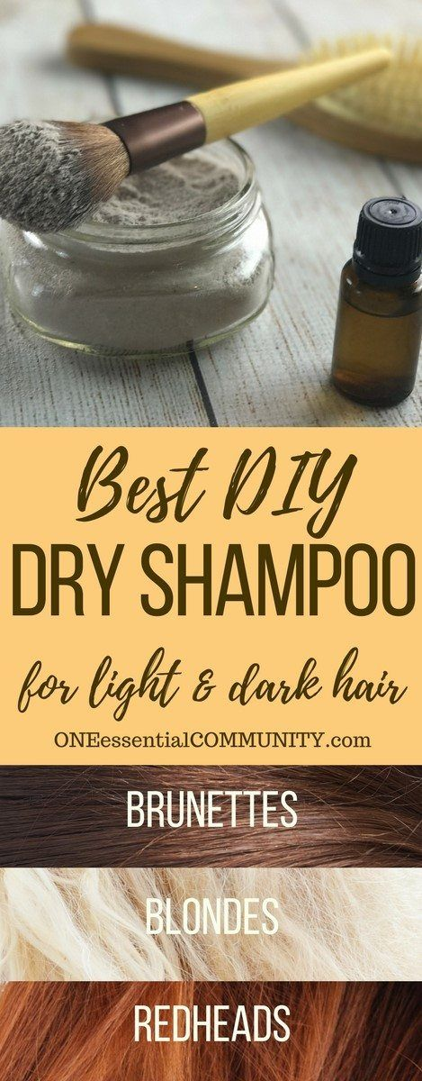 best dry shampoo recipe -- adds volume to hair, gives instant lift to roots, & i...