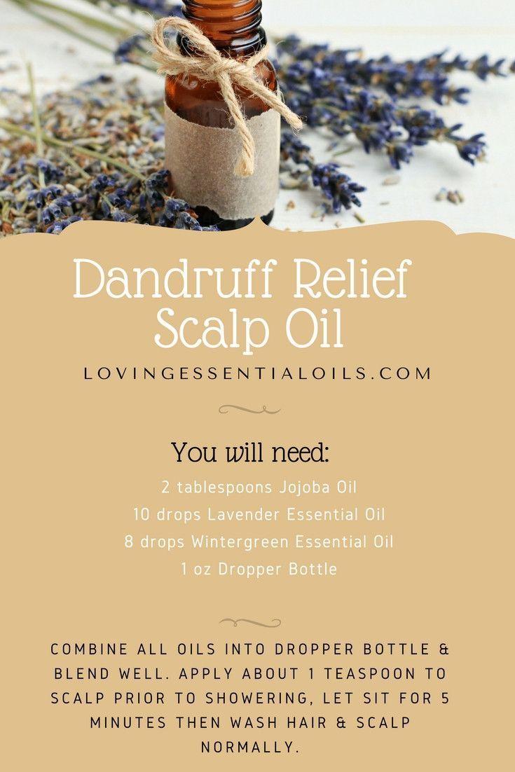 Dandruff Relief Scalp Oil Recipe With Essential Oils | Wintergreen Oil | Lavende...