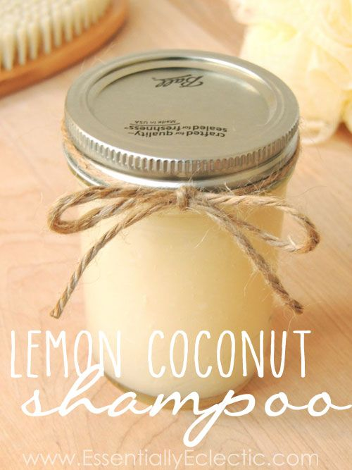 DIY Organic Lemon Coconut/EssentiallyEclectic.com/Learn to make your own DIY org...