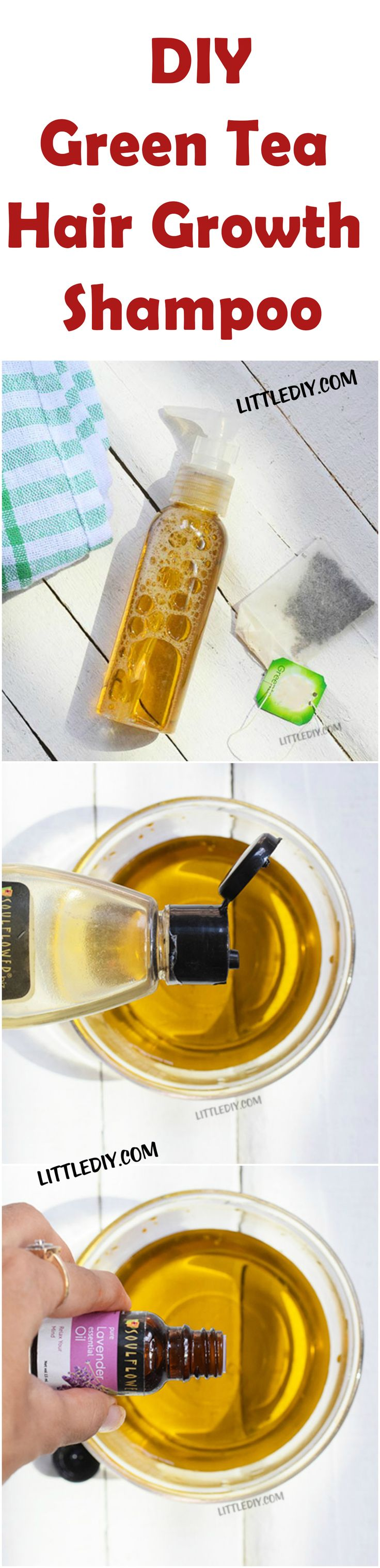 green tea hair growth shampoo - #diy #shampoo #tea