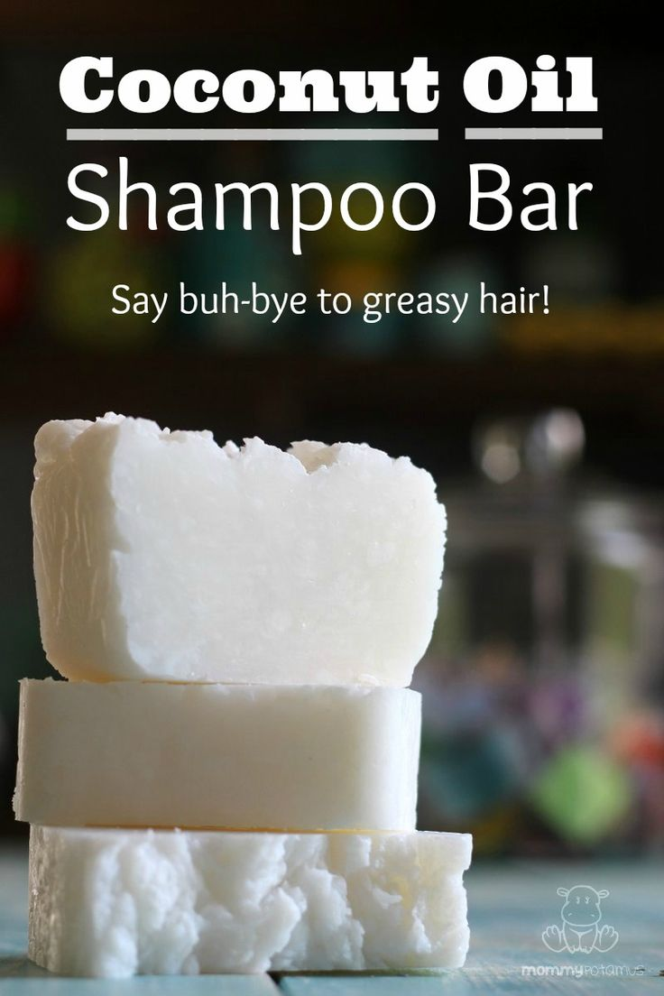 This DIY 3-ingredient coconut oil shampoo bar gently cleanses and moisturizes ha...