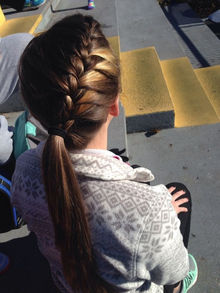 Cute Braided Ponytail for Long Hair: School Hairstyles for Girls