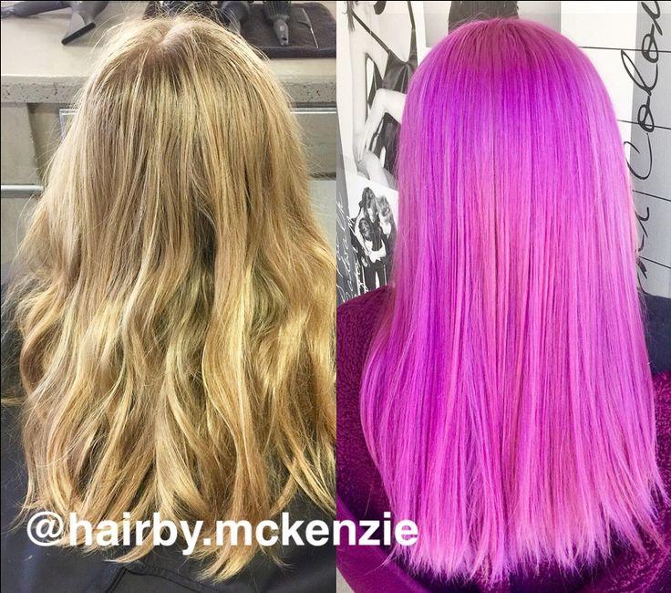 Fuchsia hair color