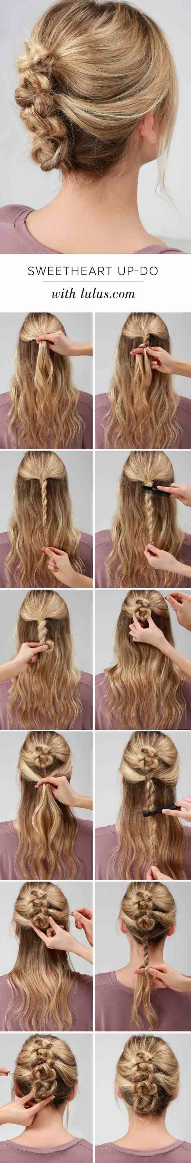 22 Best Beauty Tips for 2017 -Lulus How-To: Sweetheart Twisted Up-Do -The Best E...