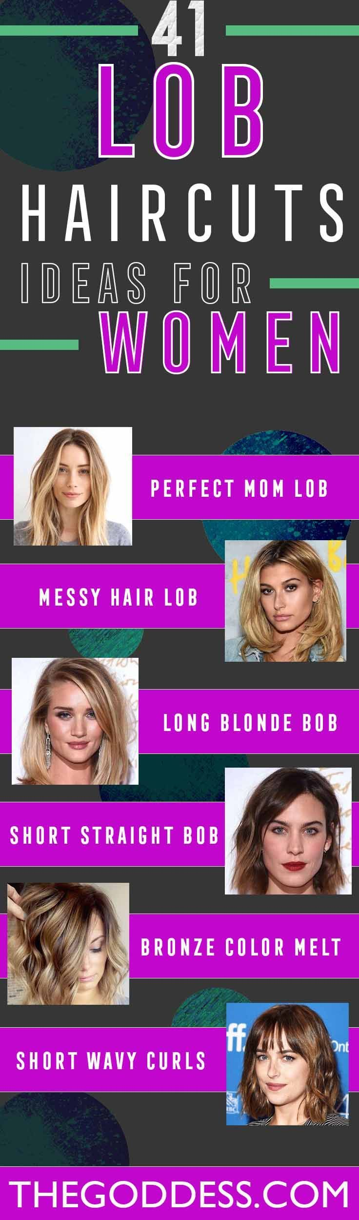 41 Lob Haircut Ideas For Women - What is a lob? Step by step easy tutorials on h...