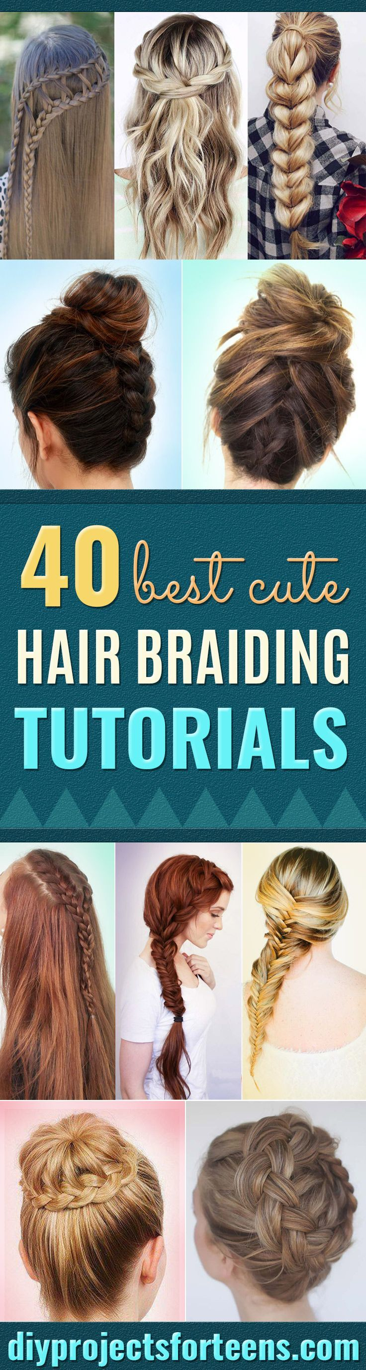 Best Hair Braiding Tutorials  - Easy Step by Step Tutorials for Braids - How To ...