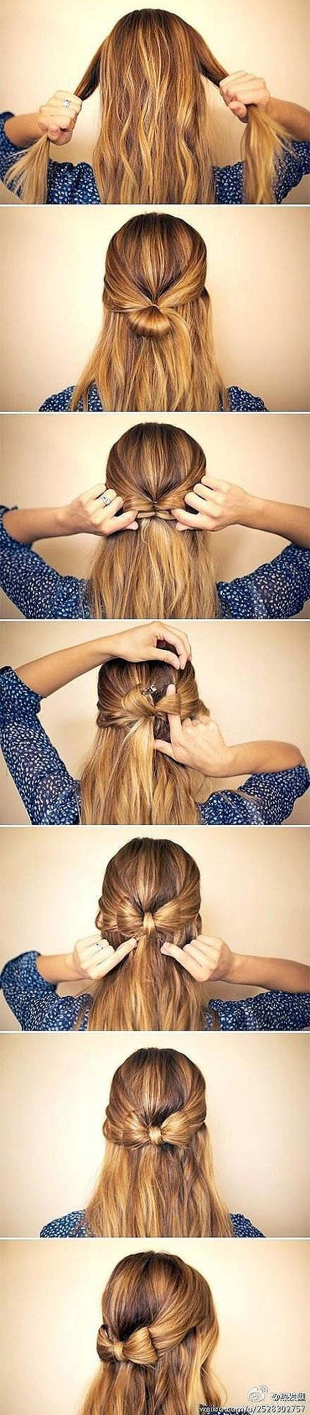 Best Hairstyles for Long Hair - Half Up Ribbon Hairstyle - Step by Step Tutorial...