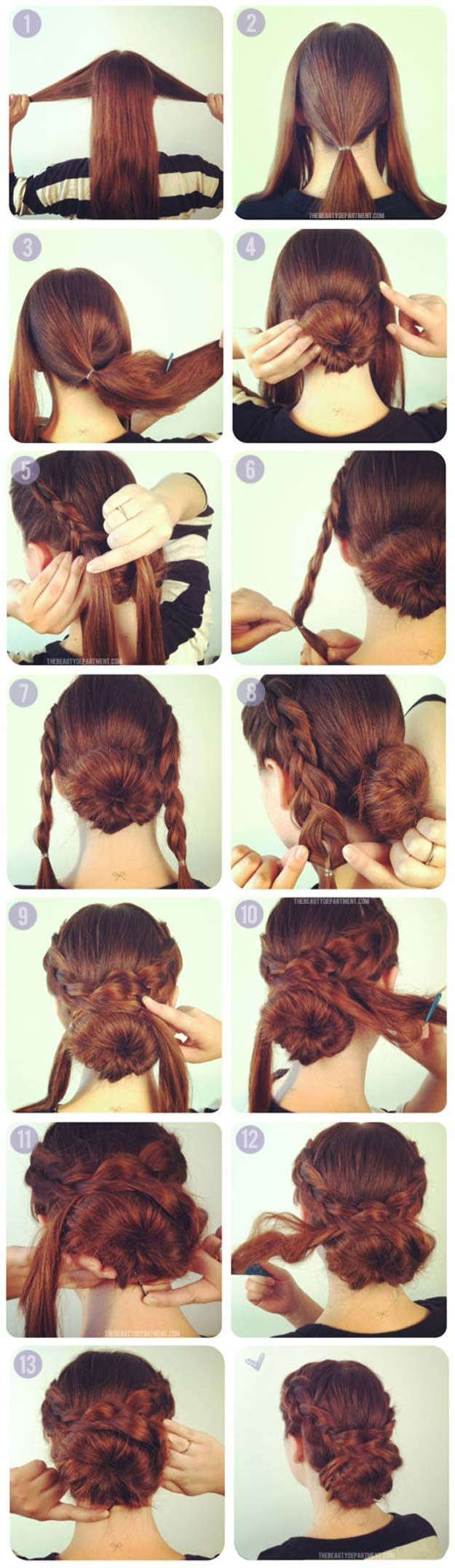 Best Hairstyles for Long Hair - Hot Crossed Bun - Step by Step Tutorials for Eas...