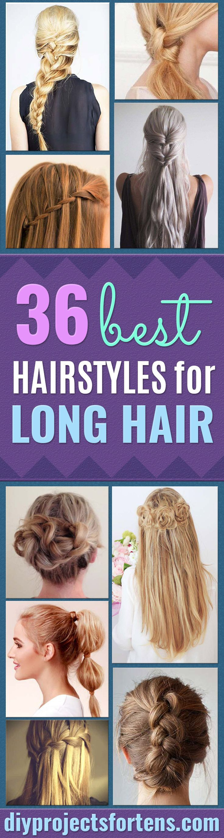 Best Hairstyles for Long Hair - Step by Step Tutorials for Easy Curls, Updo, Hal...