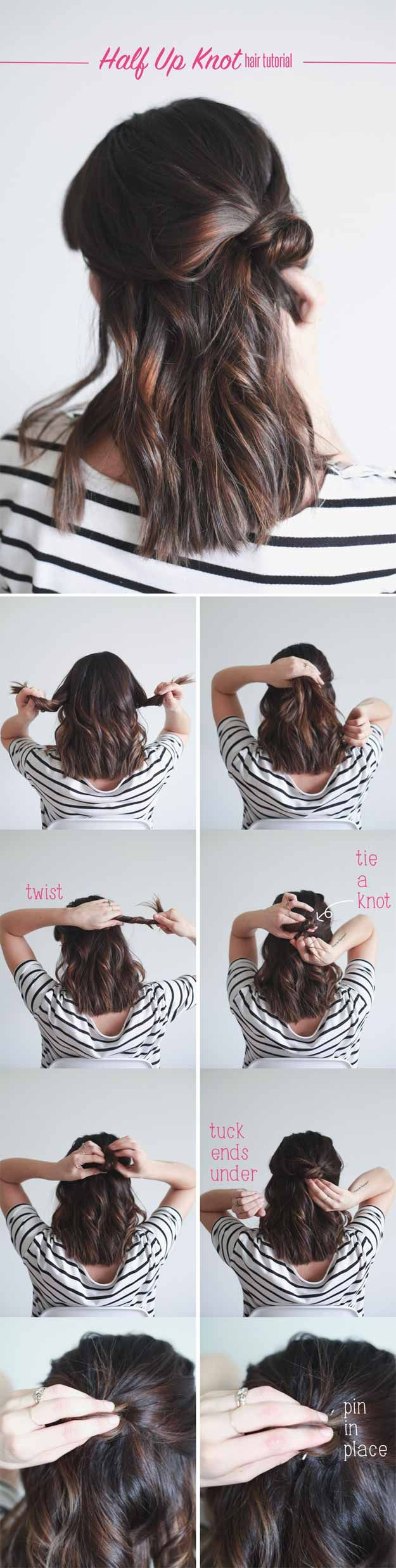 Best Hairstyles For Your 20s -Half Up Knot in 4 Easy Steps- Hair Dos And Don't...