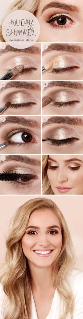 Easy Step by Step Hairstyles For School : Best Makeup Tutorials for Teens -Holiday Shimmer Eye Tutorial - Easy Makeup Idea... - Beauty Haircut | Home of ...