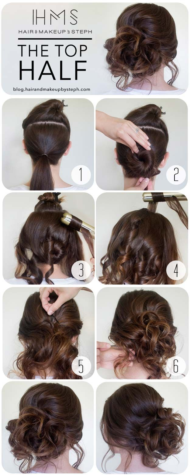 Cool and Easy DIY Hairstyles - The Top Half - Quick and Easy Ideas for Back to S...