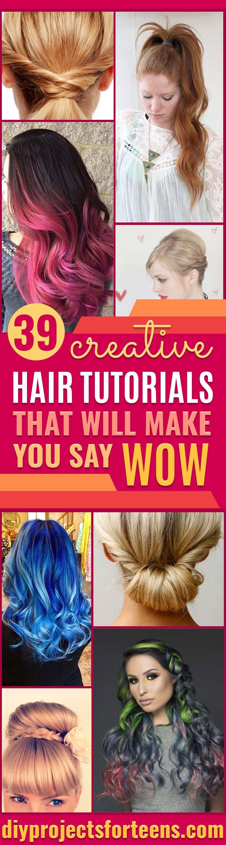 Creative DIY Hair Tutorials - Color, Rainbow, Galaxy and Unique Styles for Long,...