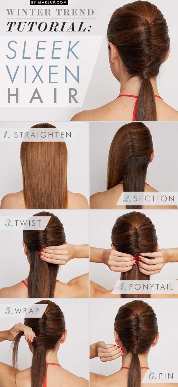 Quick and Easy Hairstyles for Straight Hair - Sleek Vixen Hair - Popular Haircut...