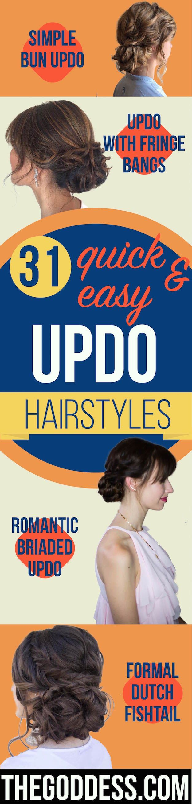 Quick and Easy Updo Hairstyles - Hair Hacks And Popular Haircuts For The Lazy Gi...