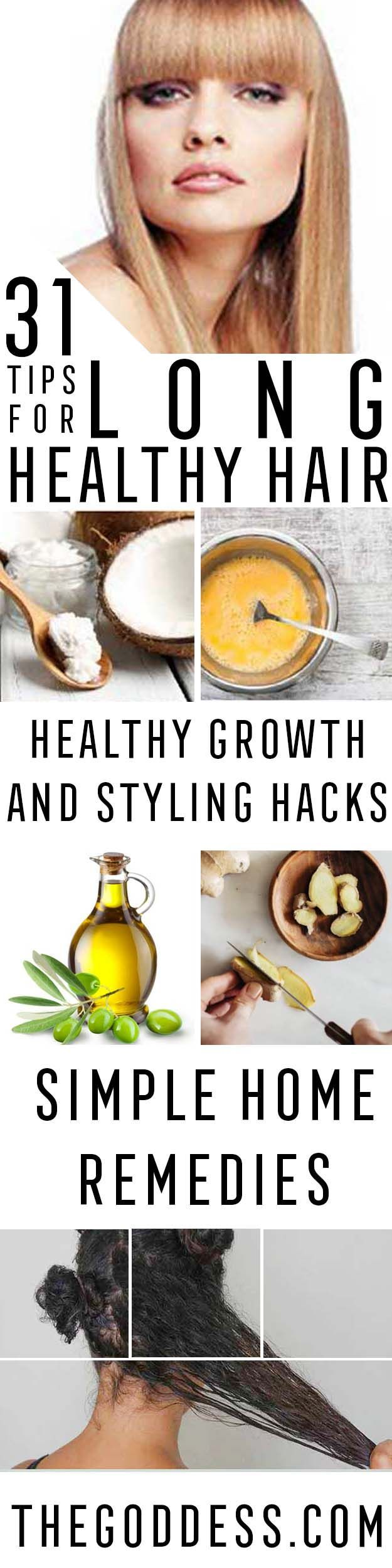 Tips and Tricks For Long, Healthy Hair - Healthy Hair Growth Tips and Styling Tr...