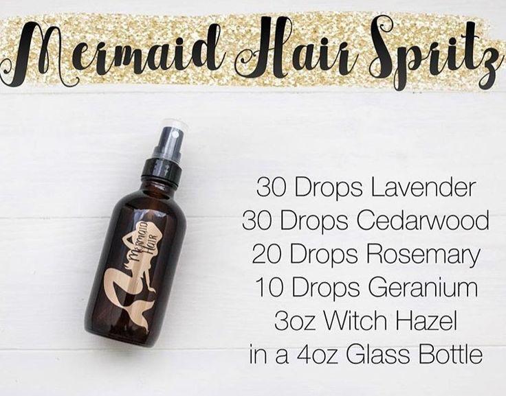 mermaid hair essential oil spray for growth and health of hair